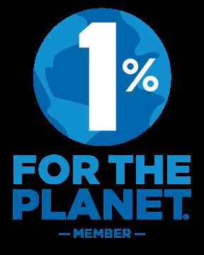 logo du réseau 1% for the Planet qui connecte les entreprises philanthropes à des associations agrées et respectueuses de l'environnement