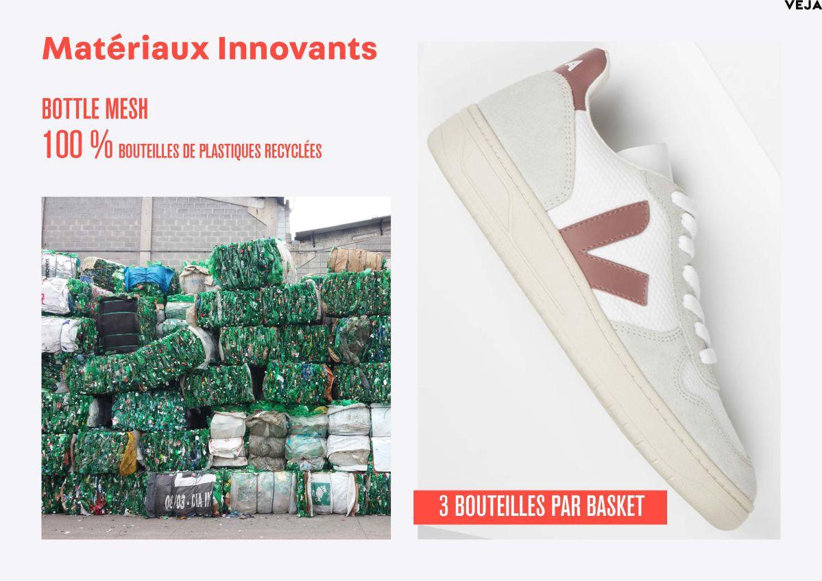 basket avec bouteilles plastiques recyclées